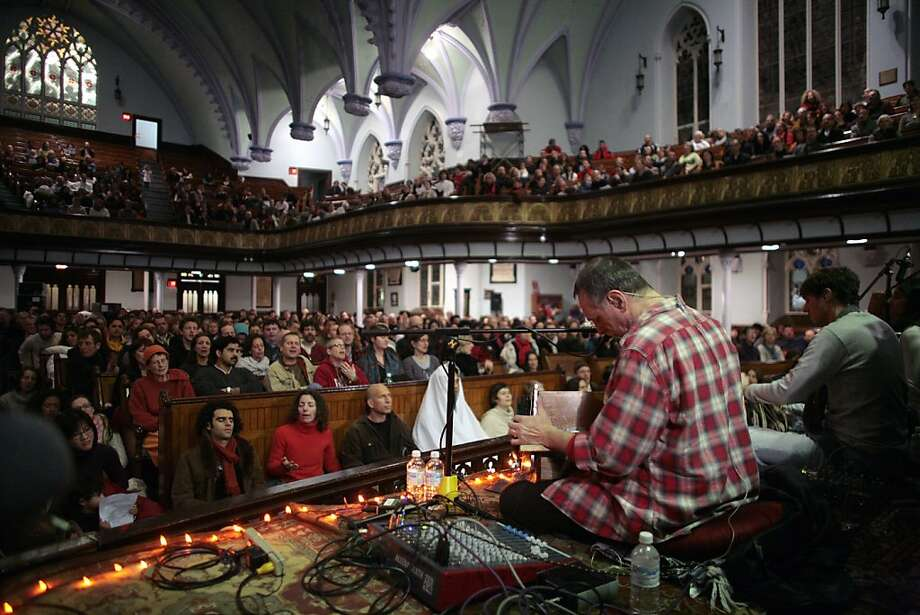 """Krishna Das, a Baby Boomer who became a professional singer of the Indian devotional music kirtan, performs in """"One Track Heart."""" Photo: Liam Maloney, Zeitgeist Films"""