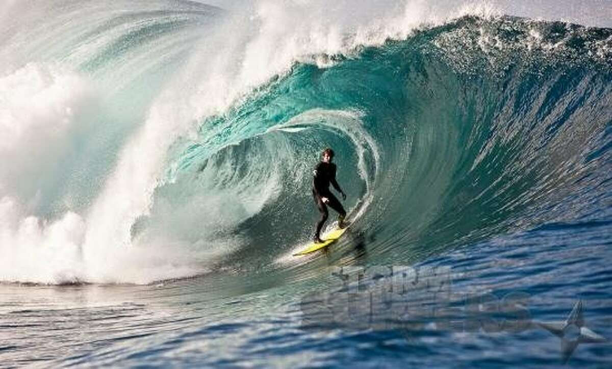 """Catching a wave on the South Coast Bombie in the 2013 Australian documentary """"Storm Surfer 3D."""""""
