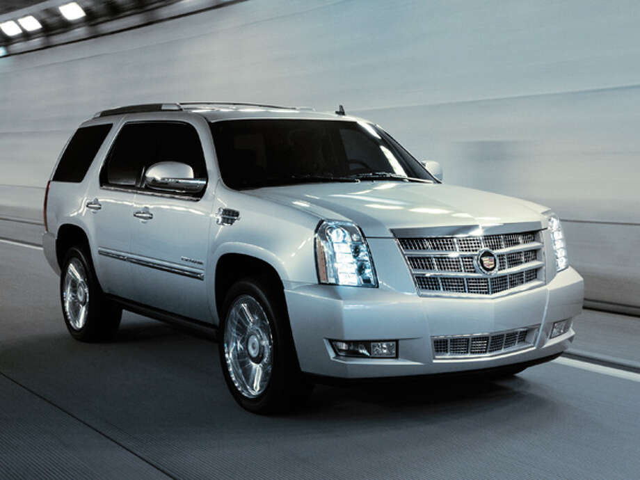 """Cadillac Escalade with four-wheel drive  Starting Price:$67,290Rate of theft:5.5 out of every 1,000 insured / License Agreement - Please read the following important information pertaining to this image. This GM image is protected by copyright and is provided for use under a Creative Commons 3.0 License* for the purpose of editorial comment only. The use of this image for advertising, marketing, or any other commercial purposes is prohibited. This image can be cropped, but may not be altered in any other way, and each should bear the credit line """"© GM Co."""" General Motors makes no representations with respect to the consent of those persons appearing in these photos, or with regard to the use of names, trademarks, trade dress, copyrighted designs or works of art or architecture that are not the intellectual property of General Motors.  *The applicable Creative Commons 3.0 License can be found at http://creativecommons.org/licenses/by-nc/3.0"""