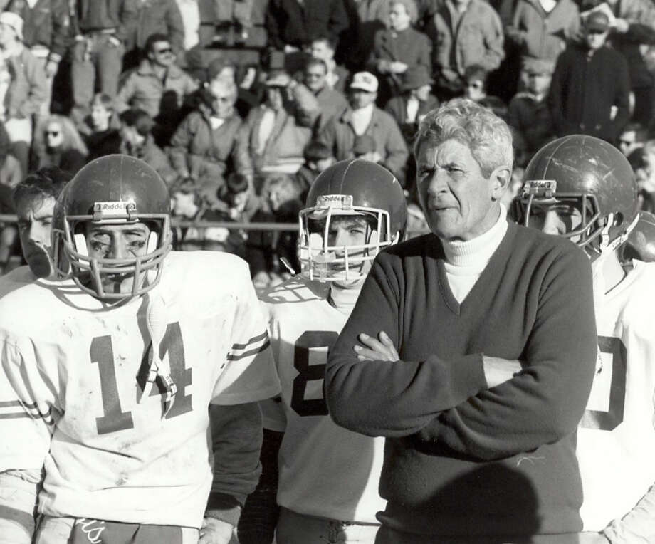 Earl Lavary guided Fairfield Prep's football fortunes for 28 seasons and retired in 1992 with more wins than than any other coach in Connecticut. His 230 victories since have been eclipsed, but he still ranks No. 7. Photo: Contributed Photo / Fairfield Citizen