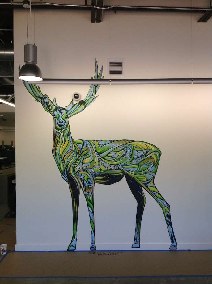 """Google Deer"" (2012) by Ian Ross in Google's new Mountain View campus."