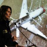 Chairman of the National Transportation Safety Board, Deborah Hersman addressed the press to give more details of the NTSB's investigation in the crash of Asiana Airlines Flight 214 in South San Francisco, Calif., on Wednesday, July 10, 2013.
