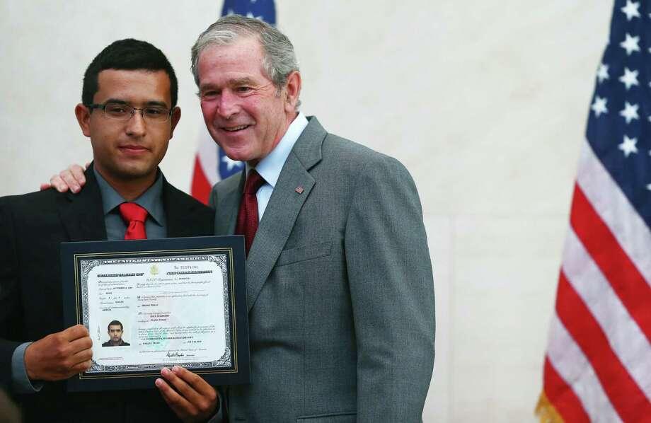 George W. Bush spoke highly of America's immigrant heritage.