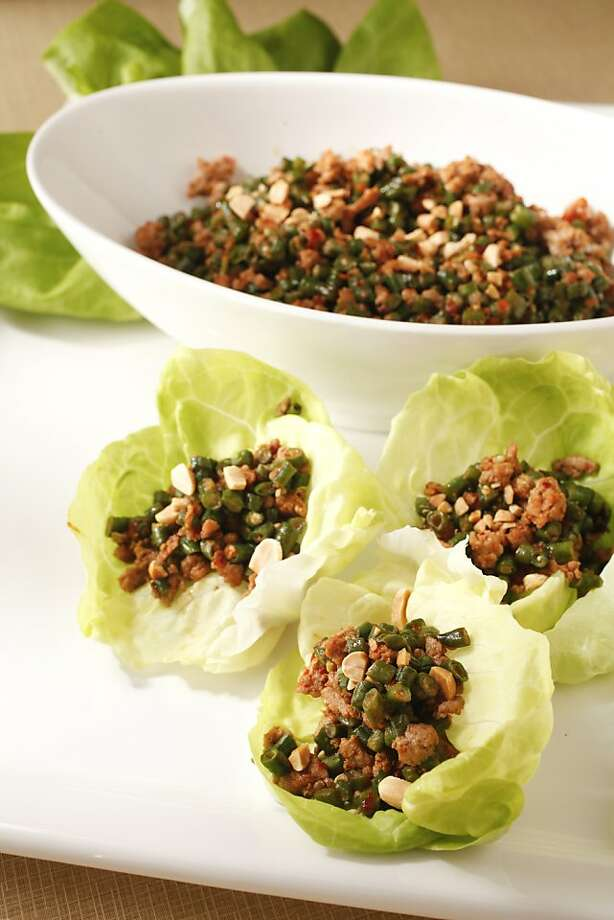 Spicy Long Beans in Lettuce Cups Photo: Craig Lee, Special To The Chronicle