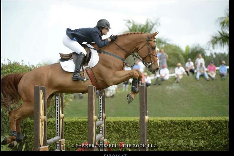 Agatha D'Ambra, who has loved horses since she was a little girl, owns her own Rexford horse farm and has turned pro on the show jumping circuit. In September, she'll compete in the elite Zoetis Million Dollar Class in Saugerties. (The Book LLC)