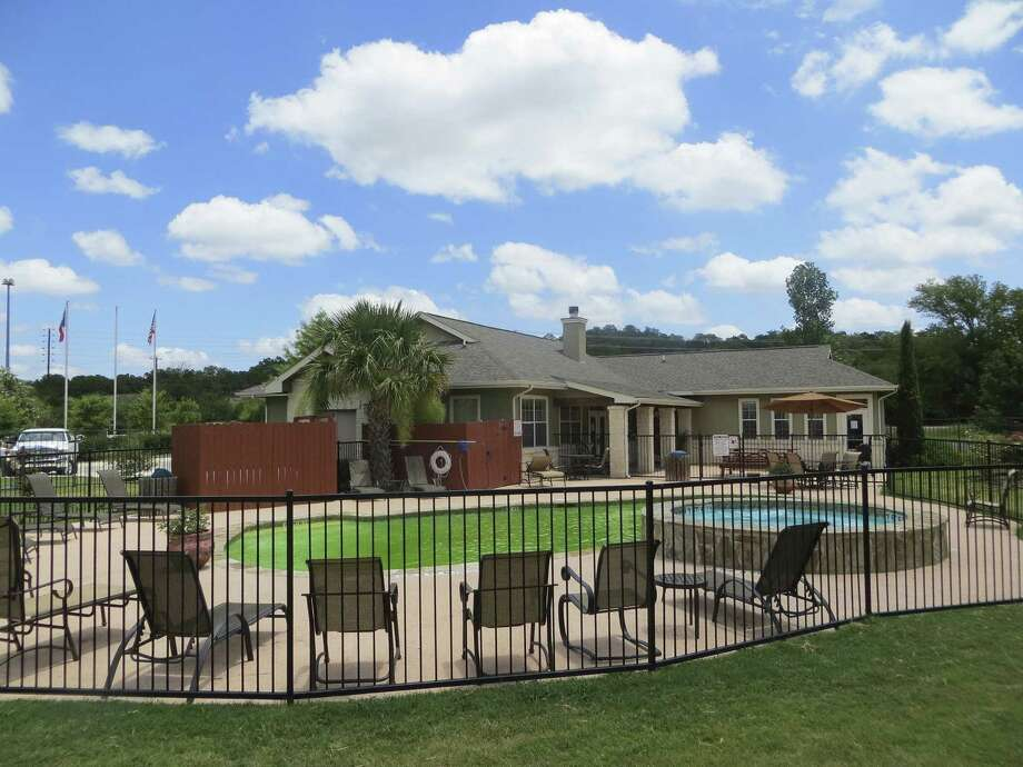 Vogt's plan is to create a rental property — complete with pool — out of the clubhouse at the Stone Creek Village Apartments. Photo: Zeke MacCormack / San Antonio Express-News