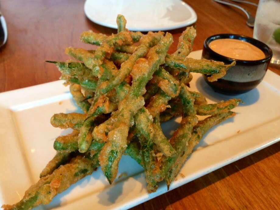Batter-fried green beans ($9)