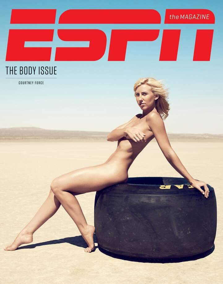 """The Body Issue from ESPN the Magazine hits newsstands on Friday, July  12. But don't worry, in this slideshow you can get a look at some of the  men and women to grace the pages of the highly-anticipated annual  issue.Courtney Force, a Funny Car drag racer on the cover of ESPN The Magazine's 2013 """"Body Issue."""" Photo: ESPN"""