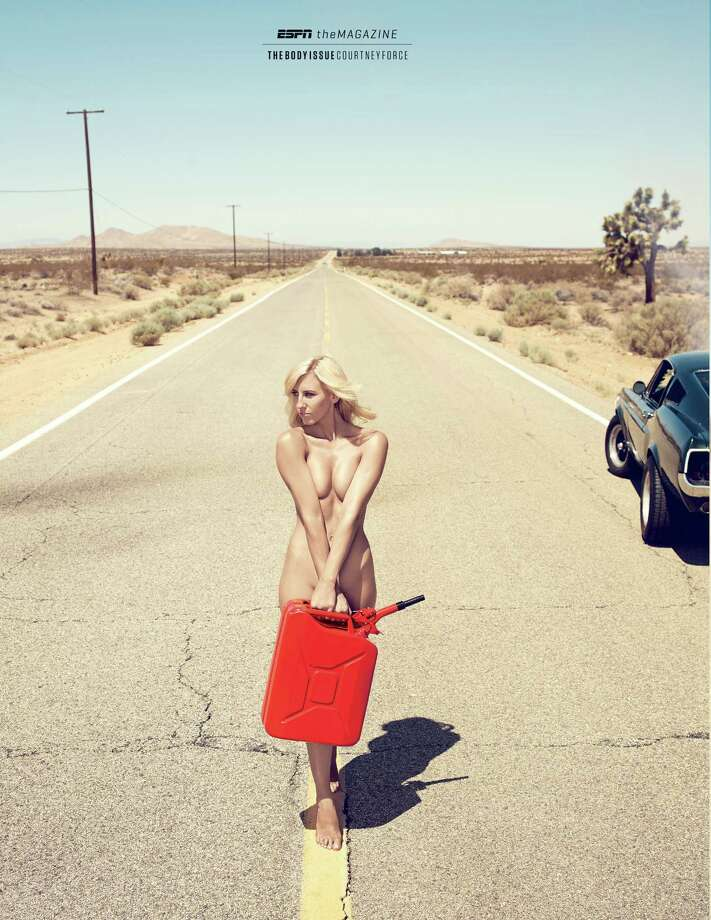 "Courtney Force, a Funny Car drag racer in ESPN The Magazine's 2013 ""Body Issue."" Photo: ESPN"