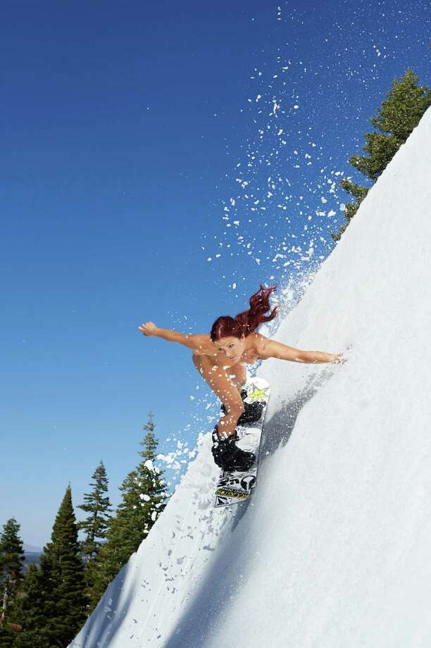 "Olympic snowboarder Elena Hight  in ESPN The Magazine's 2013 ""Body Issue."" Photo: Martin Schoeller                , ESPN / Martin Schoeller  2012"