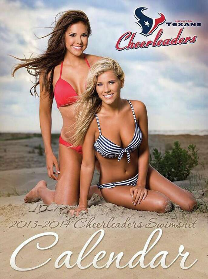 The HoustonT exans Cheerleaders have revealed the cover image for their 2013-14 Swimsuit Calendar. The calendar will be on sale starting Saturday, July 27 at the Coors Light display in Houston-area Kroger locations, the Go Texan Store at Reliant Stadium, and online at shop.HoustonTexans.com.