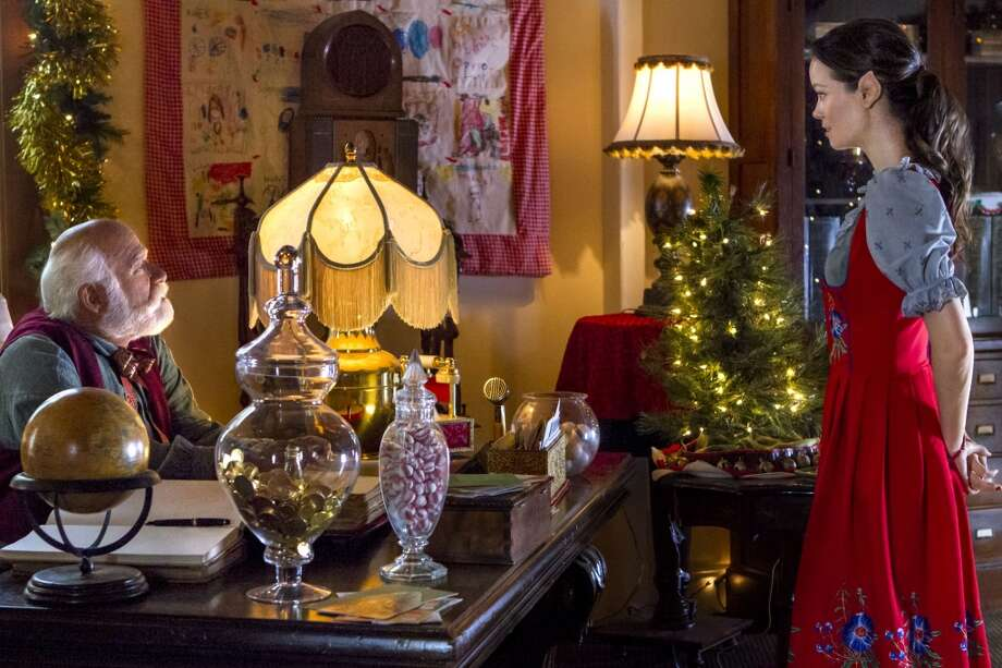 Summer Glau plays an elf, complete with pointy ears, who assists Santa in 'Help for the Holidays.' Photo: Hallmark Channel