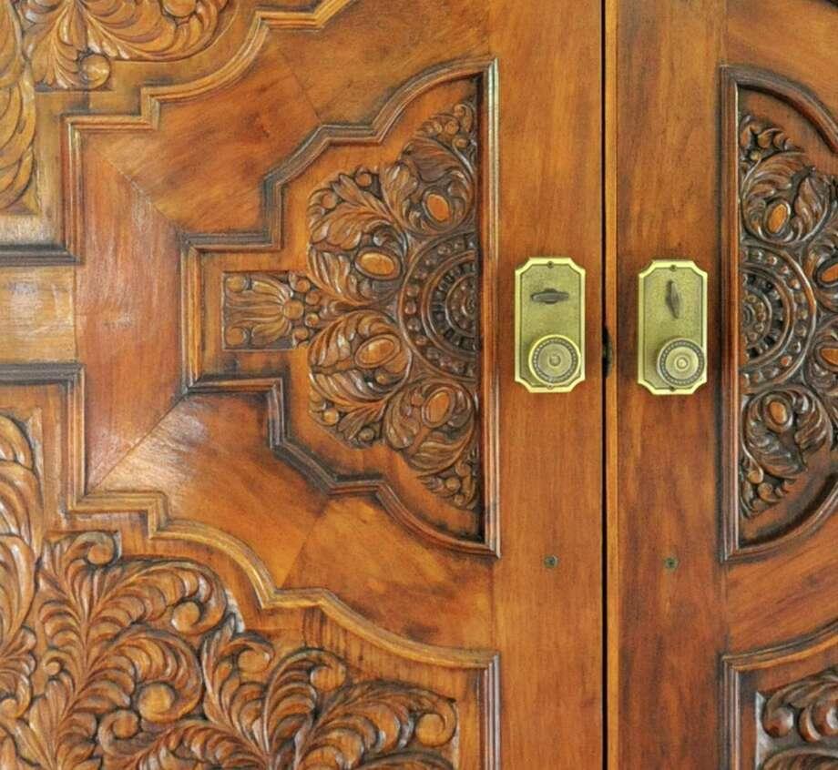 Detail of the front door at Diana Traegler's  house Friday, June 14, 2013 in Altamont, N.Y. (Lori Van Buren / Times Union) Photo: Lori Van Buren / 00022793A
