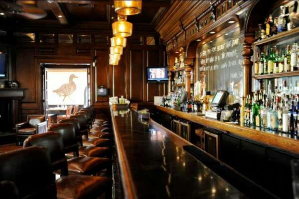 The bar area at The Goose in Darien features live music and a bar originally owned by August Busch in St. Louis. The Goose - 972 Post Rd Darien