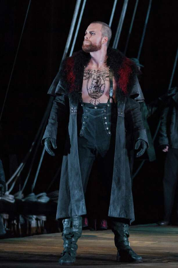 Ryan McKinny as the Dutchman in The Glimmerglass Festival's 2013 production of The Flying Dutchman. Photo: Karli Cadel/The Glimmerglass Festival. Photo: Karli Cadel / © 2013 Karli Cadel