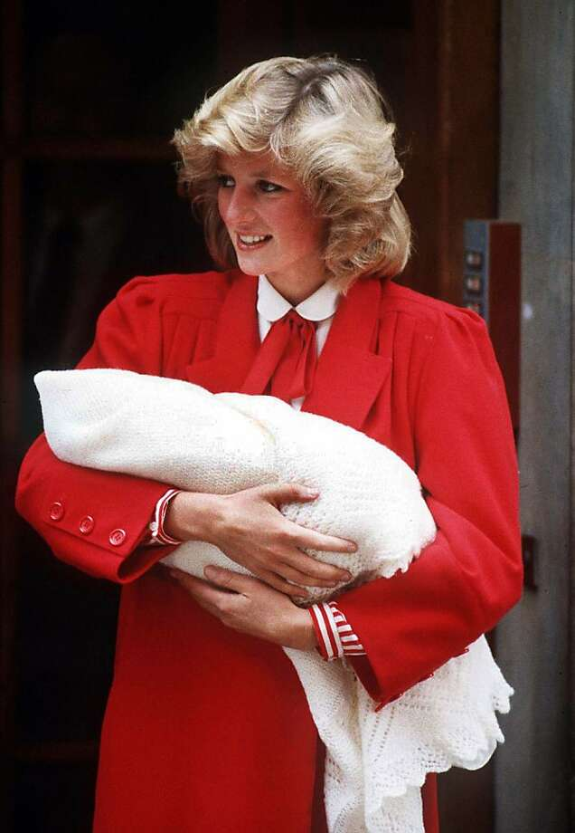 Princess Diana leaving St Mary's Hospital, London with her new-born son Prince Harry, September 1984. Photo: Princess Diana Archive, TERRY FINCHER