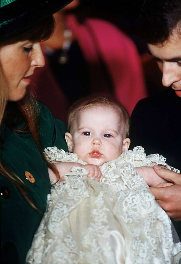Christening of Princess Beatrice of York at the Chapel Royal, St James Palace, London in 1988.  Photo: Tim Graham
