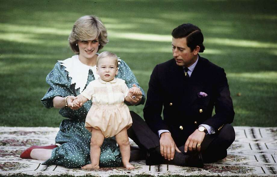 Prince William is seen with his parents TRH Prince Charles and Princess Diana during their April 1983 official visit to New Zealand. Photo: Anwar Hussein, Getty Images