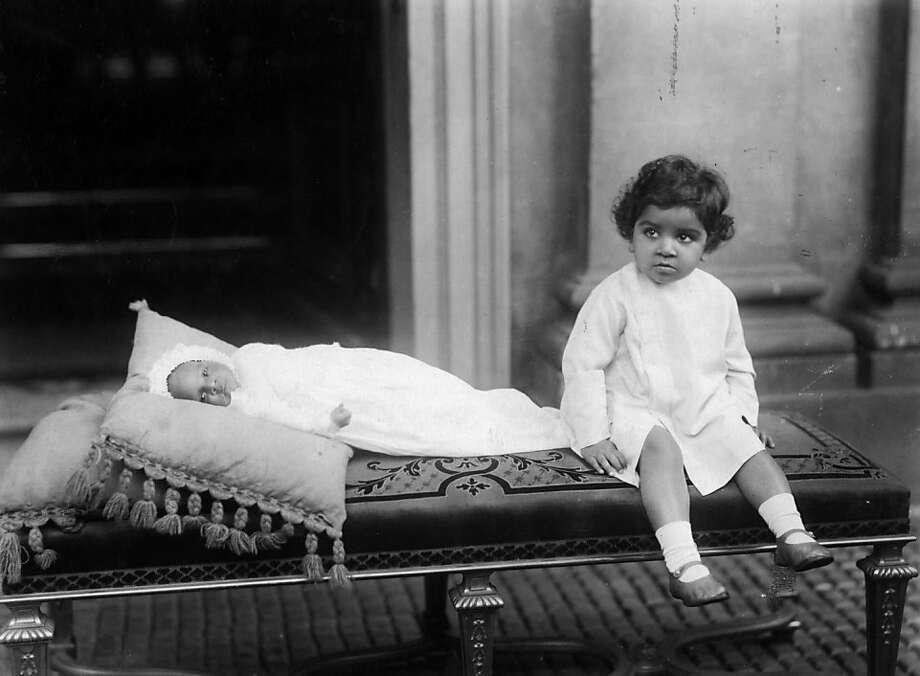 The Maharaja Kumar with his baby brother, both sons of the Maharaja of Jodhpur, circa 1935. Photo: Evening Standard