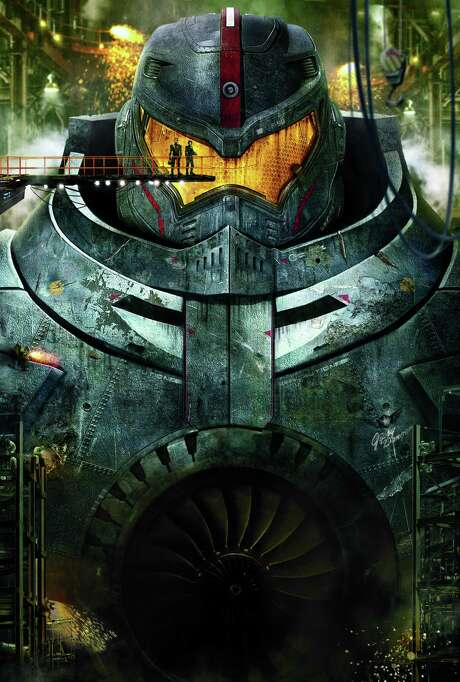 "Humans put giant robots up against invading alien dinosaurs in sci-fi action adventure ""Pacific Rim.""    When legions of monstrous creatures, known as Kaiju, started rising from the sea, a war began that would take millions of lives and consume humanity s resources for years on end. Photo: Warner Bros."