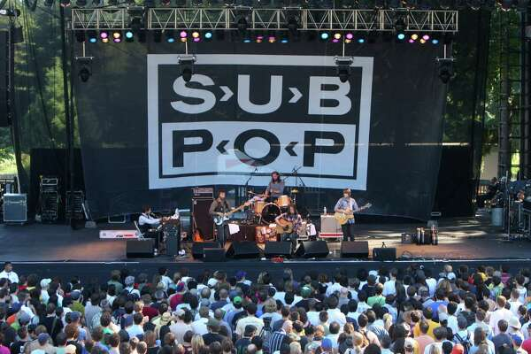 The Fleet Foxes perform at the Sub Pop 20th Anniversary Festival at Marymoor Park in Redmond on Saturday, July 12, 2008.