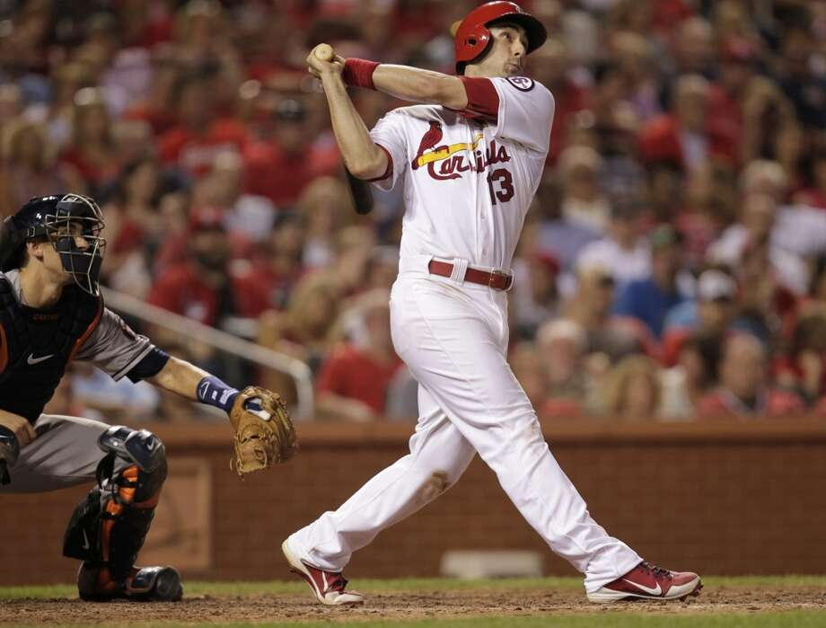 July 10: Cardinals 5, Astros 4Matt Carpenter's 2-run shot in the seventh inning gave the Cardinals the lead for good as the Astros dropped both game of the two-game set in St. Louis.  Record: 32-59. Photo: Tom Gannam, Associated Press