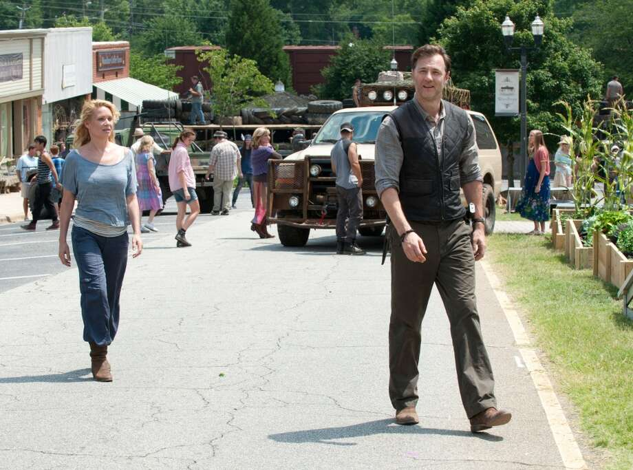 "David Morrissey, who plays The Governor in ""The Walking Dead,"" is from England."