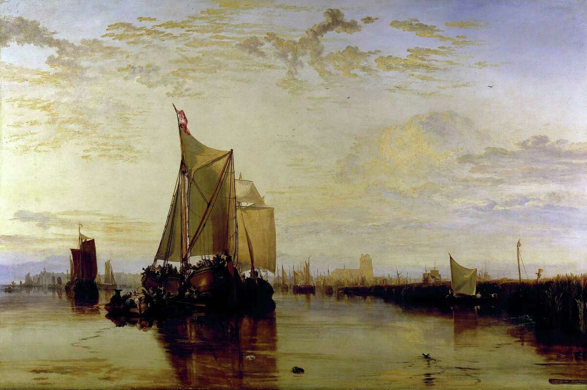 """J. M. W. Turner's """"Dort, Dordrecht: The Dort Packet-Boat from Rotterdam Becalmed,"""" 1817-18, an oil on canvas, is in the permanent collection at the Yale Center for British Art in New Haven. The center was recently ranked as the 15th greatest art gallery in the world by The Times of London."""
