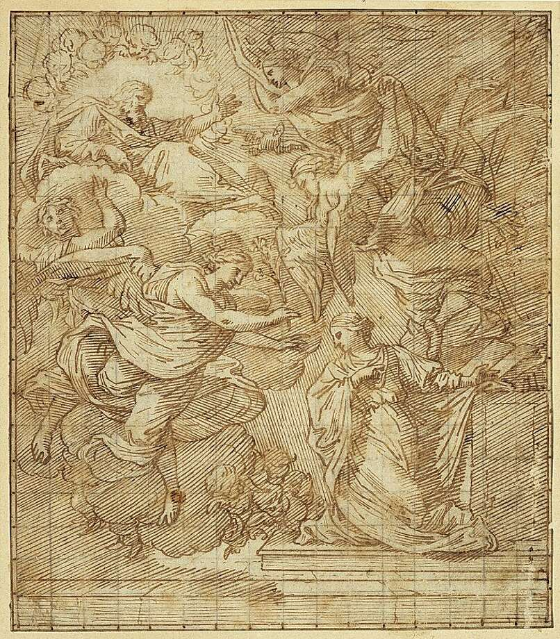 """Annunciation"" (c. late 1550s-early 1600s), pen and ink on paper by Michel Dorigny. Photo: Unknown"