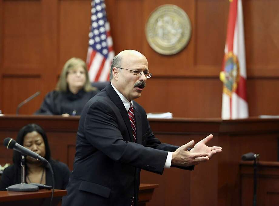 July 11-12, 2012 – The prosecution, then defense, give their closing arguments. (Pool photo by Gary W. Green/Orlando Sentinel/MCT) Photo: Gary W. Green, McClatchy-Tribune News Service