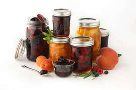 Jars of all the canned fruit as seen in San Francisco, California, on July 10, 2013. Styled by Jillian Welsh.