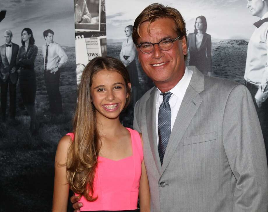 "Executive producer Aaron Sorkin (R) and daughter Roxy Sorkin attend the premiere of HBO's ""The Newsroom"" Season 2 at the Paramount Theater on the Paramount Studios lot on July 10, 2013 in Hollywood, California.  (Photo by David Livingston/Getty Images)"