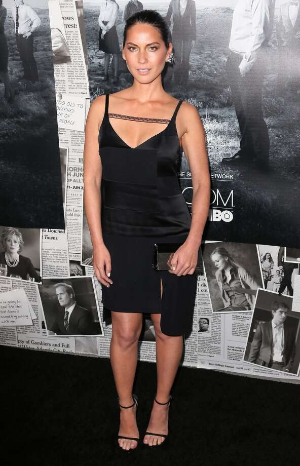 "Actress Olivia Munn attends the premiere of HBO's ""The Newsroom"" Season 2 at the Paramount Theater on the Paramount Studios lot on July 10, 2013 in Hollywood, California.  (Photo by David Livingston/Getty Images)"