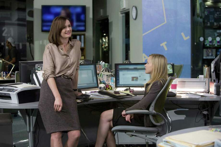 "Mackenzie (Emily Mortimer, left) and Maggie (Alison Pill) discuss what the latter considers a dream news assignment in Uganda in a  second-season episode of ""The Newsroom."" Aaron Sorkin is one of the executive producers of the HBO show. Photo: HBO"