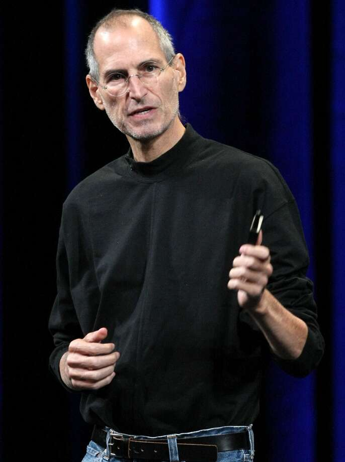 Apple CEO Steve Jobs always wore a black turtle neck and jeans for his iconic product presentations. Here he announced a new version of iTunes, new pricing for iPod Touch music players and a new version of the iPod Nano with video capabilities in San Francisco.