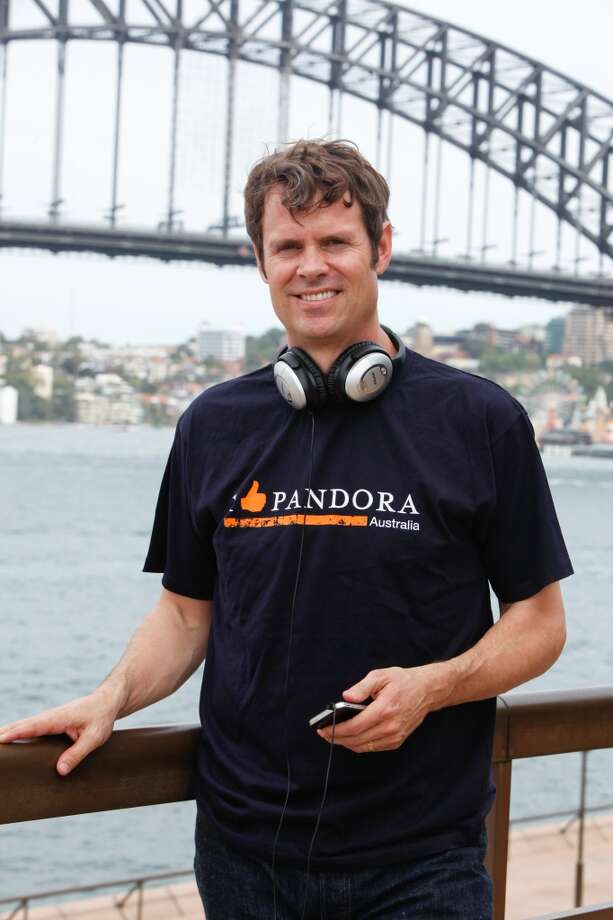With signature scruffy locks, Timothy Westergren founder of Pandora Radio appears in Sydney, Australia on December 14, 2012 in Sydney, Australia.