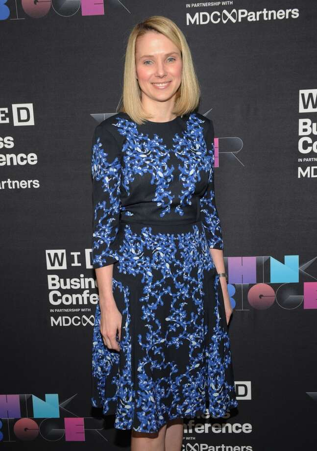 In a classic, demure A-line dress, President and CEO of Yahoo!, Marissa Mayer attends the WIRED Business Conference: Think Bigger at Museum of Jewish Heritage on May 7, 2013 in New York City.