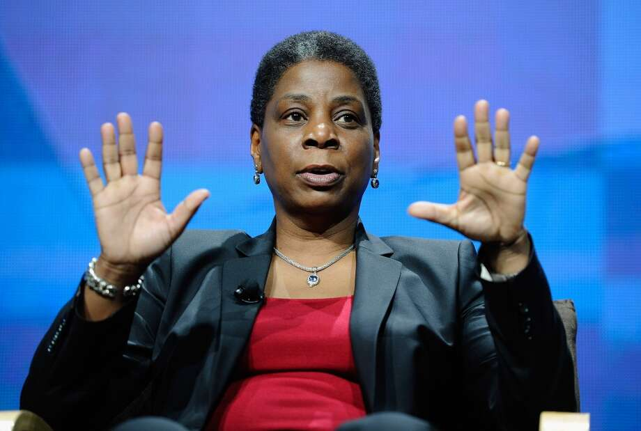 Chairman and CEO of Xerox Ursula Burns has a blazer for every occasion. Here, Burns takes part in the CES Innovation Power Panel with heads of Xerox and Verizon at the 2012 International Consumer Electronics Show at the Las Vegas Hotel and Casino.
