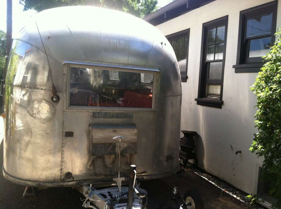 Euclid CEO Will Smith's aluminum on-site camper.
