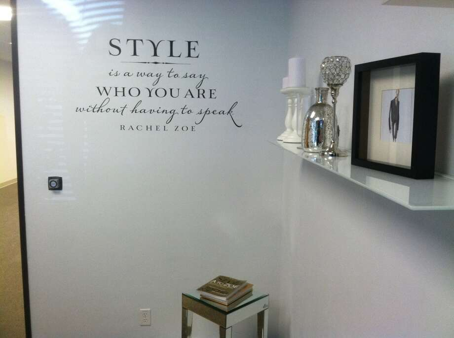 One of Poshmark's conference rooms featuring Rachel Zoe's quote.