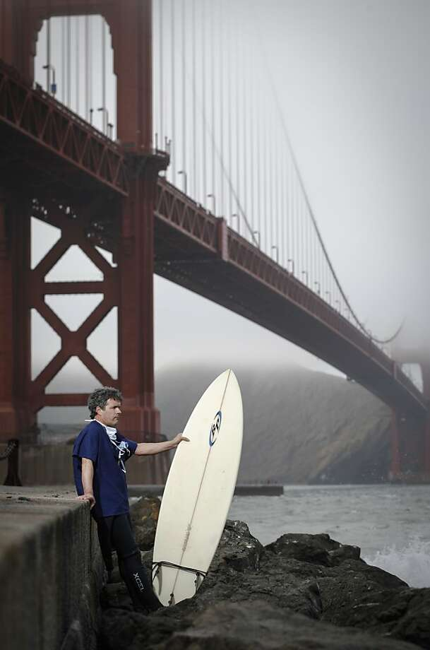 Dr. Peter Weber, seen on Monday, July 1, 2013 in San Francisco, Calif., at Ft. Point has been a surfer since his teen years. Photo: Russell Yip, The Chronicle