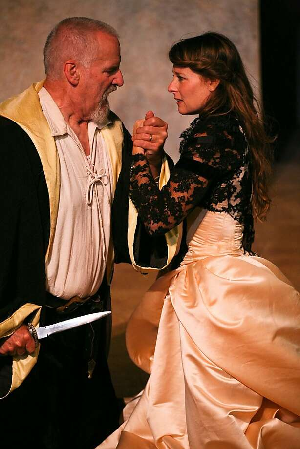 "Julian López-Morillas and Elena Wright in ""Tragedy."" Photo: Eric Chazankin"