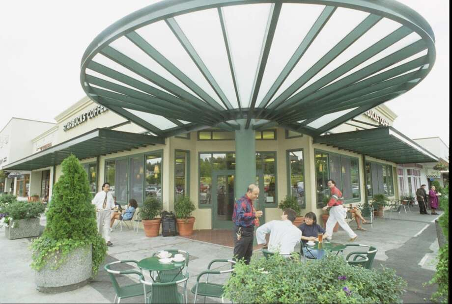 Best interpretation of the Millenium Falcon:The University Village Starbucks in Seattle in the '90s. The store debuted this then-newfangled look in 1994. Photo: Seattle Post-Intelligencer File
