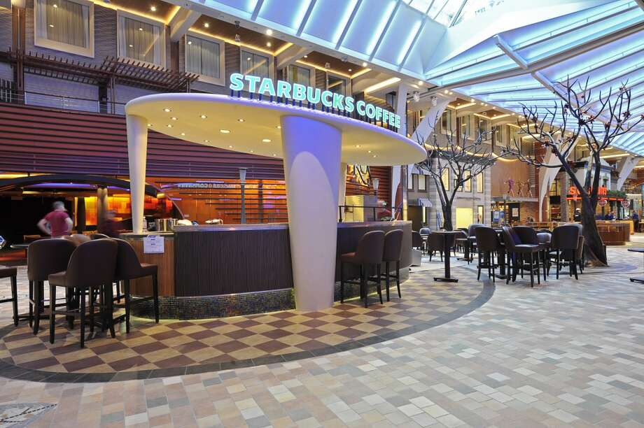 Best Starbucks to get seasick: Aboard this Royal Caribbean ship, home of the first Starbucks at sea serving luxury travelers. Photo: JOUNI SAARISTO, Starbucks
