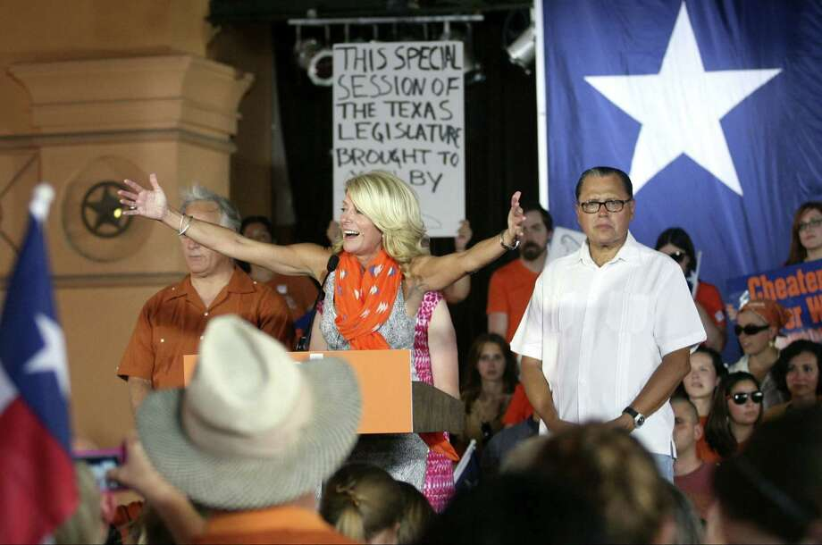 """Fort Worth Sen. Wendy Davis, who helped derail abortion-restriction legislation last month by talking for 12 hours, says, """"We will fight ... but it looks like a losing battle for us at this point. We can't possibly filibuster a bill for a two-week period."""" Photo: Cynthia Esparza / For The San Antonio Express-News"""