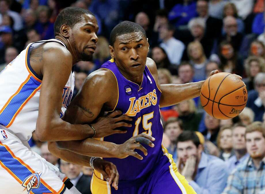 Metta World Peace is a 14-year vet, having played for the Lakers, Rockets, Kings, Pacers and Bulls. Photo: Sue Ogrocki, STF / AP