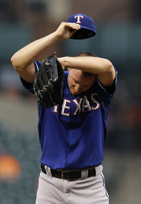 Ross Wolf, who started in place of Yu Darvish, allowed two earned runs on three hits with three strikeouts in six innings. Photo: Patrick Semansky / Associated Press