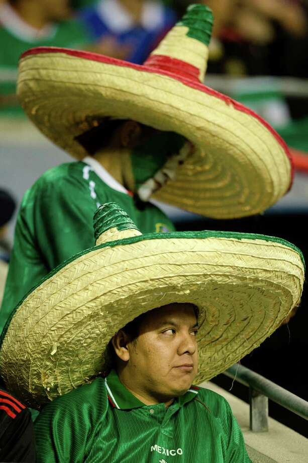 Sombreros were a popular headwear during the second half of the Mexico versus Canada CONCACAF Gold Cup soccer match Thursday, July 11, 2013, at CenturyLink Field in Seattle. Mexico led Canada 1-0 at the end of the first half and later won the game 2-0. Photo: JORDAN STEAD, SEATTLEPI.COM / SEATTLEPI.COM