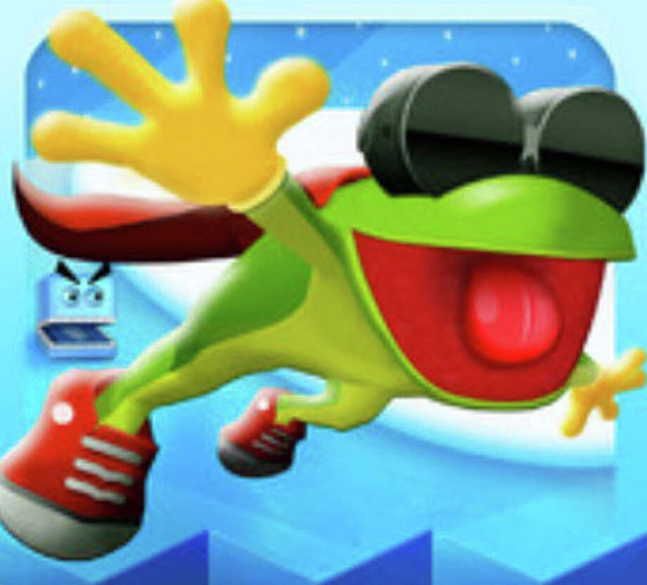 """Frog on Ice"" is a game developed by local team SpinFall. The game is a side-scrolling adventure game that gives players control of a frog named Plop. ($0.99) Photo: Apple App Store"