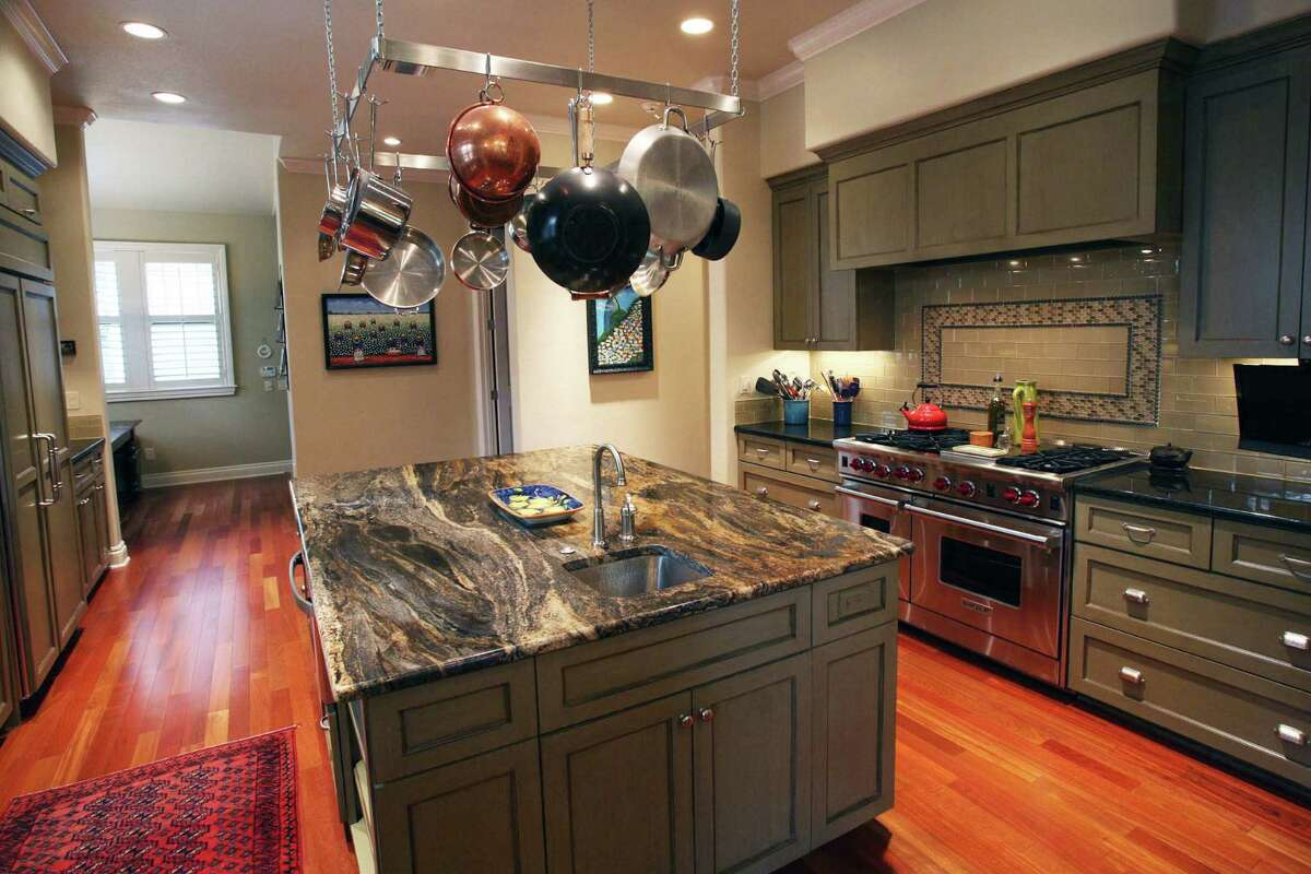 The Franks made their kitchen somewhat larger than the traditional Craftsman.